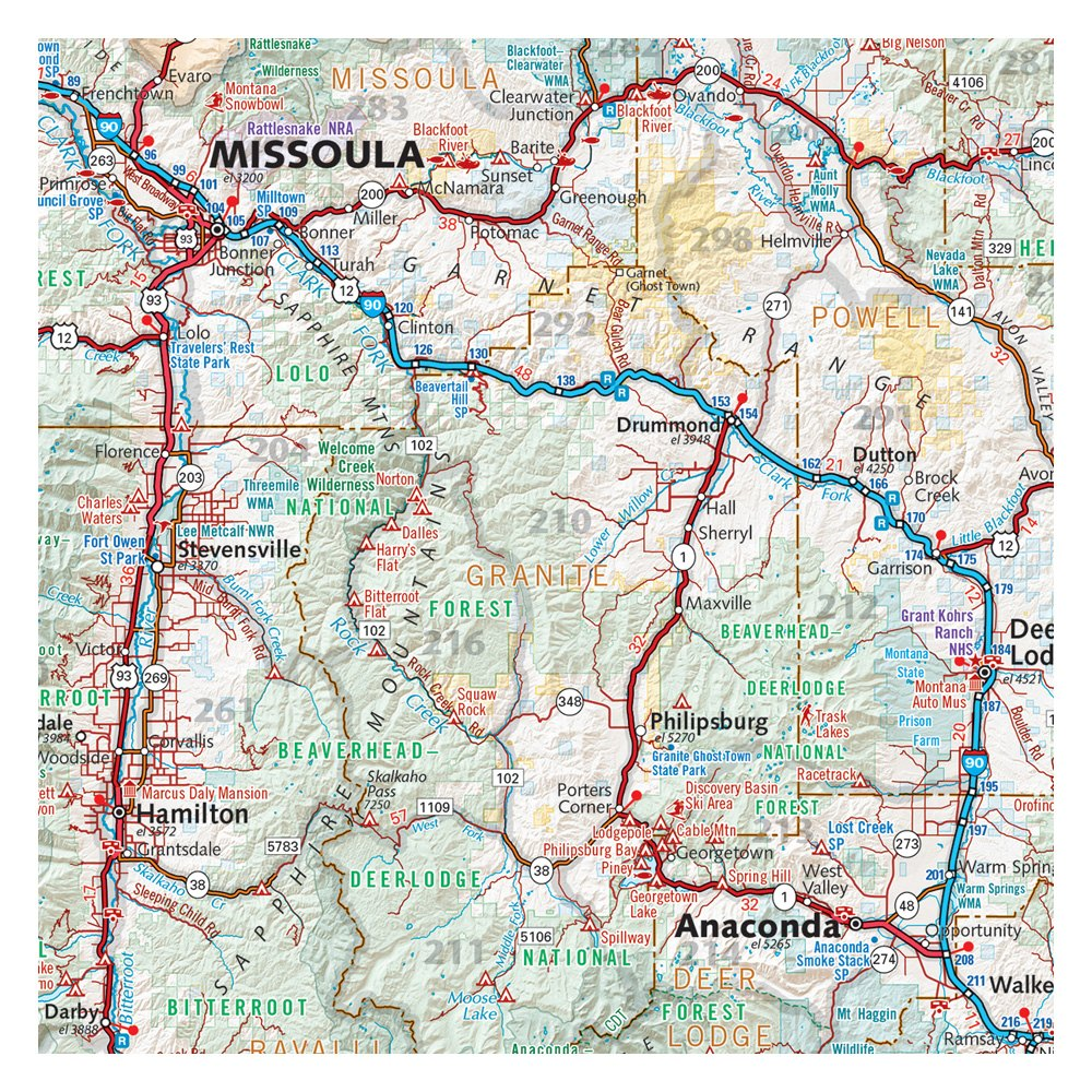 Benchmark Maps® BE0BENMTRM - Montana Recreation Map - RECREATIONiD.com
