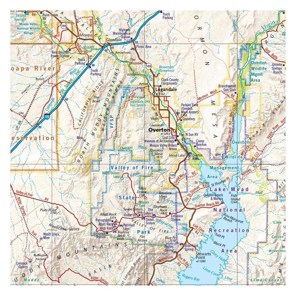 Benchmark Maps® BE0BENNVAT - Nevada Road & Recreation Atlas