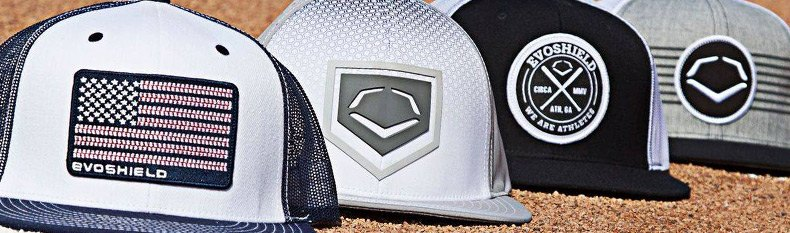 half off c455a ab573 Rank Flexfit Hat by EvoShield®. Color  Navy White. Featuring an  embroidered, sewn-on patch with the EvoShield logo, this Flexfit hat is  perfect for players ...