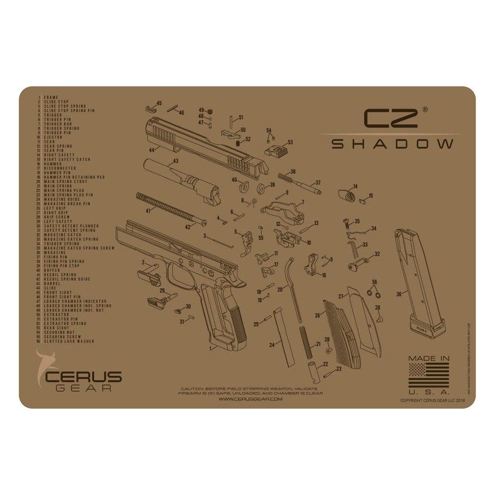 Cerus Gear® - CZ™ Shadow 2™ Schematic Handgun ProMat on
