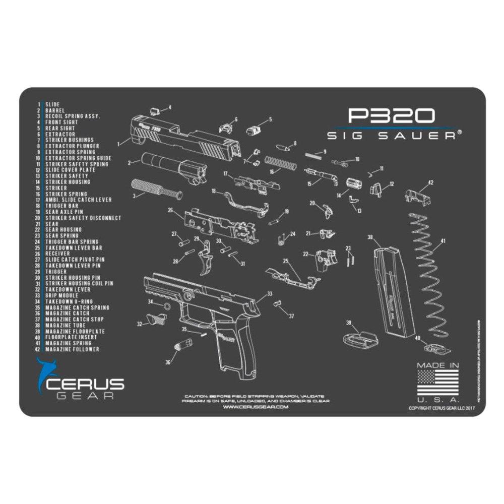 Cerus Gear® - Sig Sauer™ P320 Schematic Handgun ProMat ... on handgun illustrations, handgun concepts, handgun blueprints, handgun accessories, handgun drawings, handgun diagrams, handgun information, handgun safety, handgun power, handgun prototypes, handgun dimensions, handgun components, handgun parts,
