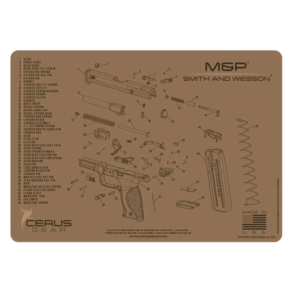 Cerus Gear® - ProMat Schematic Smith & Wesson™ M&P™ Cleaning Mat -  RECREATIONiD.comRECREATIONiD.com