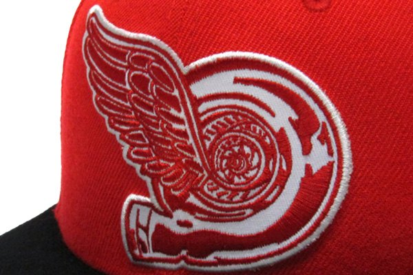 a8a6911089e320 Eat Sleep Race® 6BF13D87-738 - 7-3/8 Red/Black Turbo Wing Fitted Hat ...