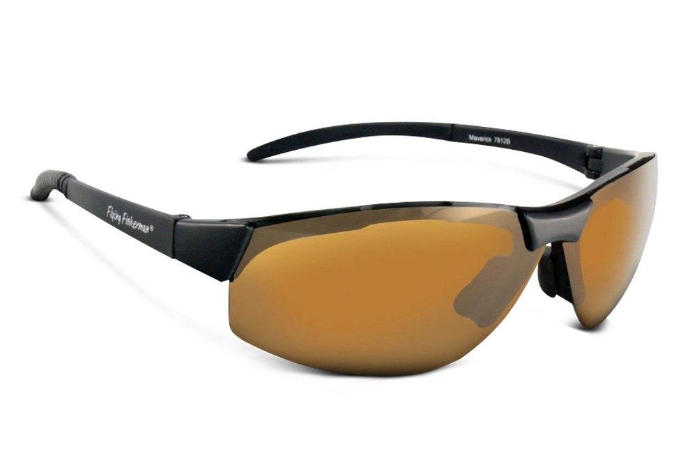 3737338e642 ... Flying Fisherman® Maverick Sunglasses MT Black Yellow Amber ...