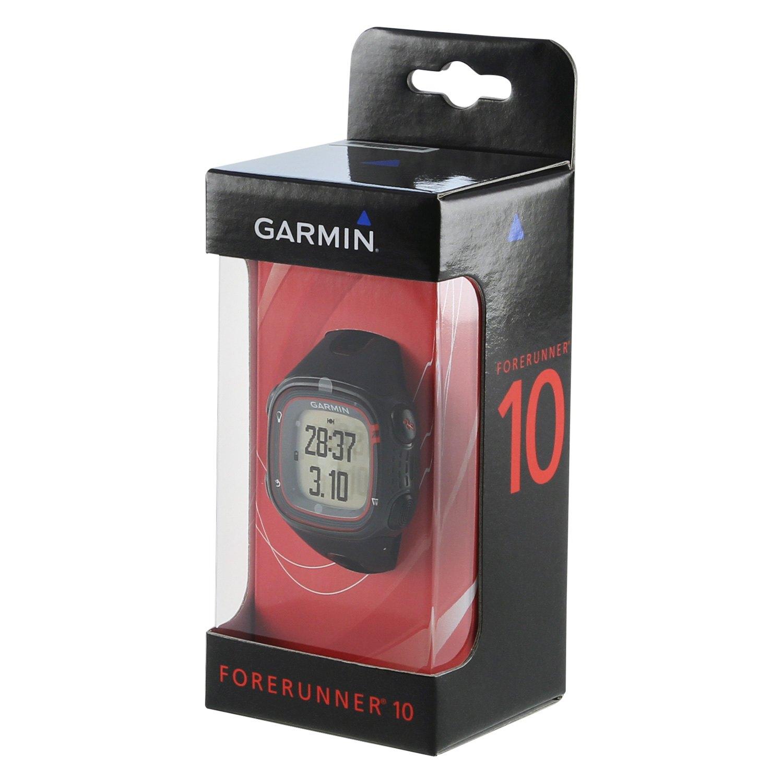 Garmin Forerunner 10 >> Garmin 010 01039 00 Forerunner 10 Black Red Running Watches With