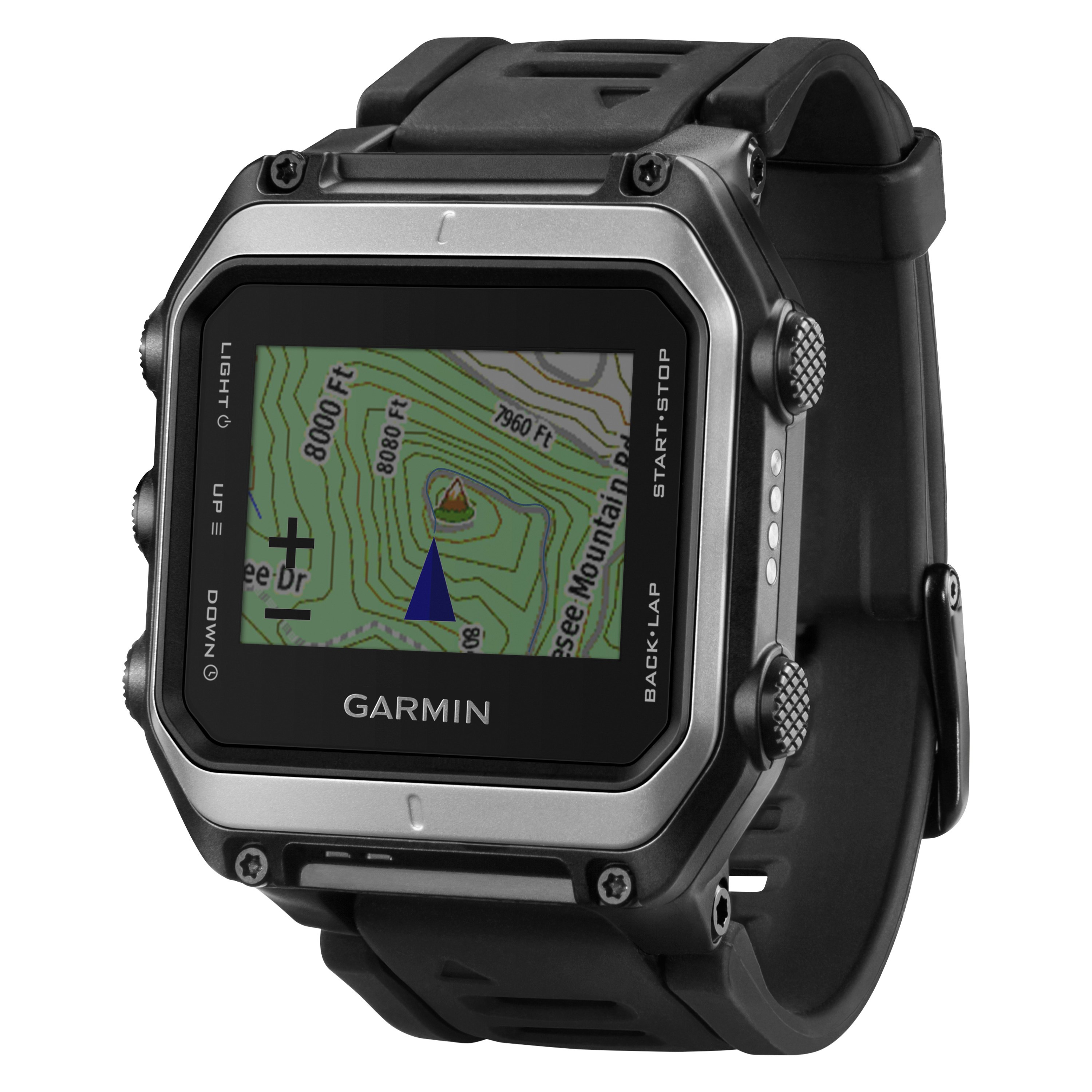 Garmin® 010-01247-01 - Epix™ Black Stainless Steel Sport Watch with Black  Silicone Band with Preloaded TOPO Maps