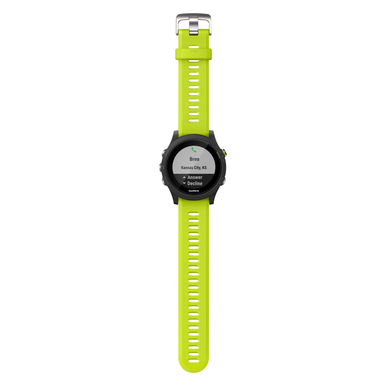 Garmin® 010-01746-02 - Forerunner™ 935 Premium Black Polymer Sport Watch  with Yellow Silicone Band