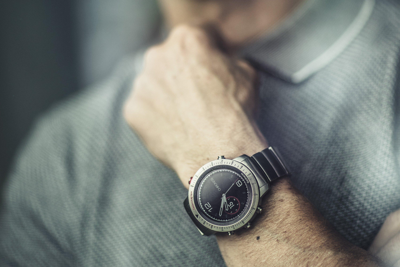 Ubrugte Garmin® 010-01957-01 - Fenix™ Chronos Gray Stainless Steel Watches YB-51