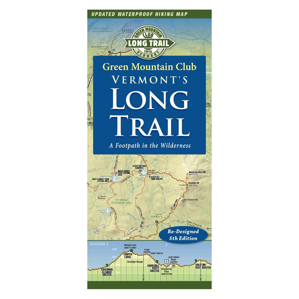 Green Mountain Club® 9781888021462 - Vermont\'s Long Trail Map ...