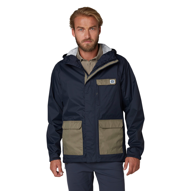 Helly Hansen Mens Roam 2.5L Waterproof Breathable Hooded Rain Jacket