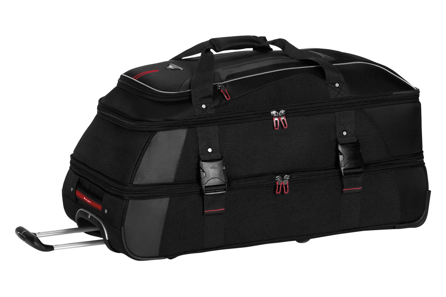 High Sierra At7 32 Black Wheeled Duffel With Backpack Straps