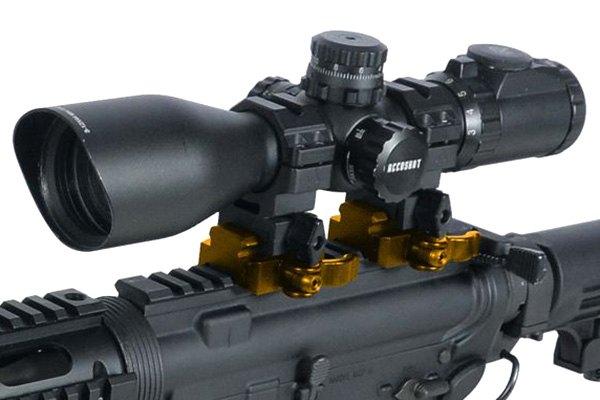 Leapers® MNT-RSQD403 - UTG Medium Profile QD Lever Mount Adaptor and Riser