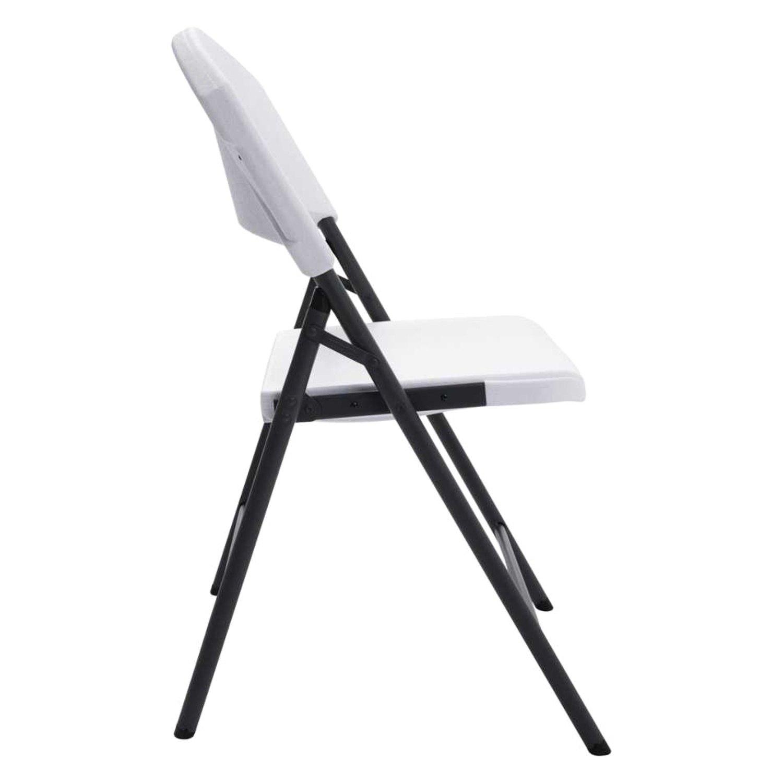 Terrific Lifetime 2810 White Granite Light Commercial Folding Chair Interior Design Ideas Apansoteloinfo