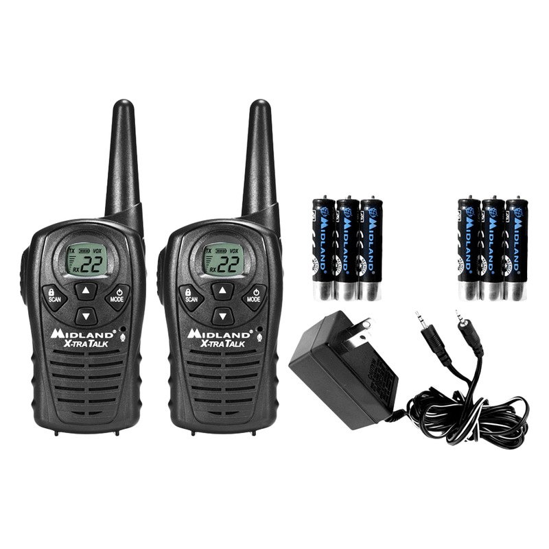 Midland Walkie Talkie >> Midland Lxt118vp 22 Ch 18 Mile Walkie Talkie 2 Way Radios Pack