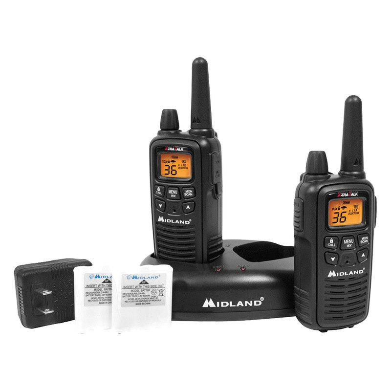 Midland Walkie Talkie >> Midland Lxt600vp3 22 Ch 30 Mile Walkie Talkie 2 Way Radios Pack