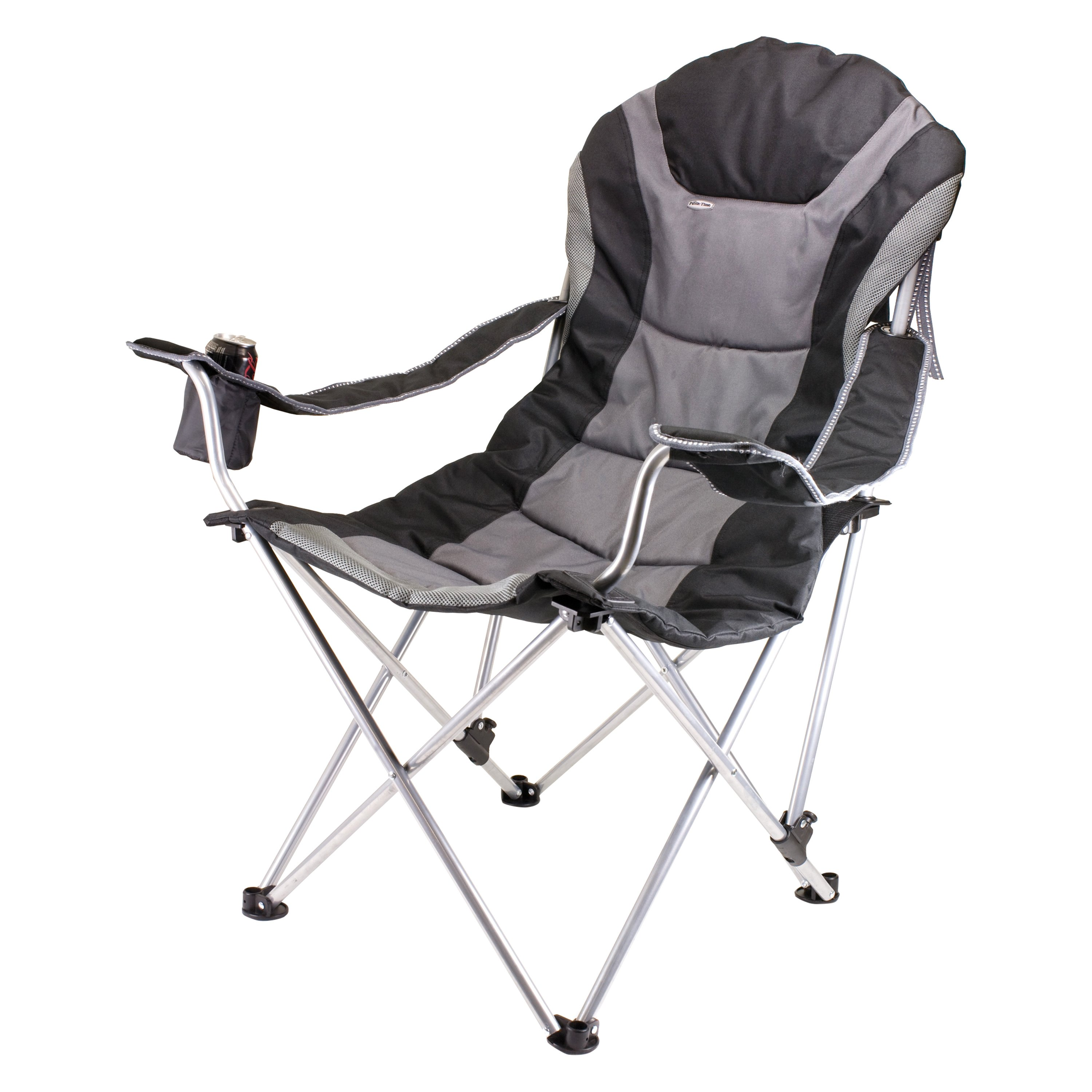 Picnic Time 174 803 00 175 000 0 Reclining Black Camp Chair