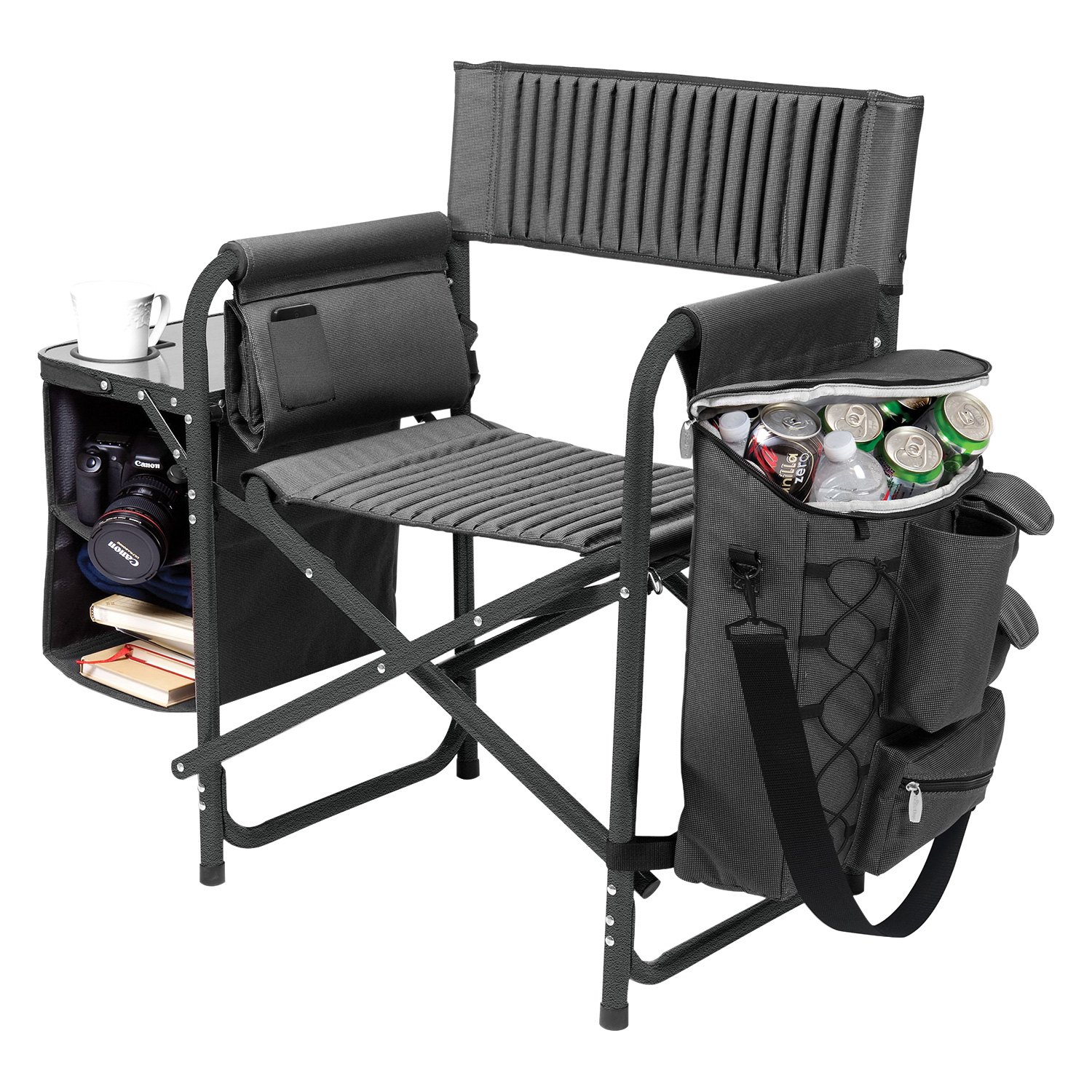 Wondrous Picnic Time 807 00 679 224 0 Ncaa Fusion Iowa Hawkeyes Gray Black Camp Chair Beatyapartments Chair Design Images Beatyapartmentscom