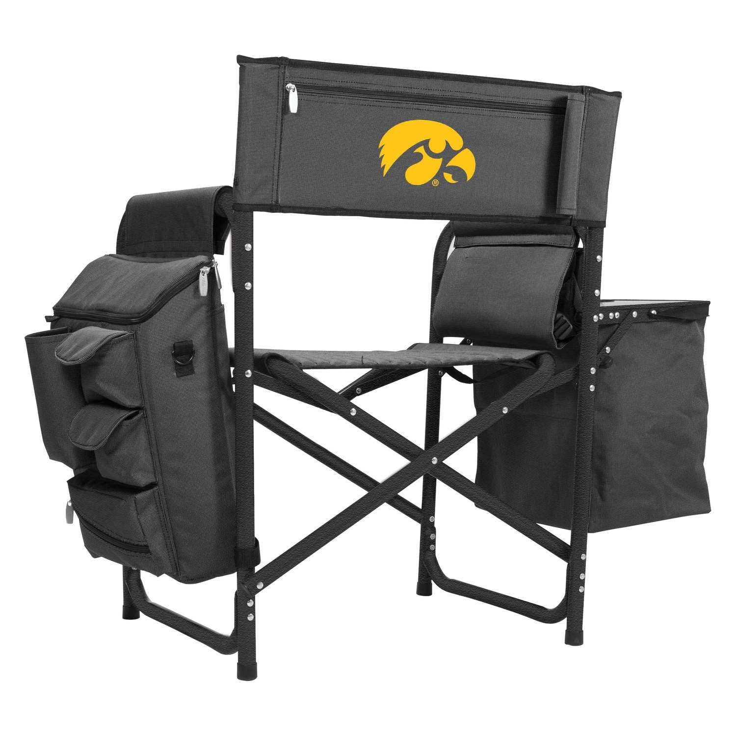 Sensational Picnic Time 807 00 679 224 0 Ncaa Fusion Iowa Hawkeyes Gray Black Camp Chair Beatyapartments Chair Design Images Beatyapartmentscom