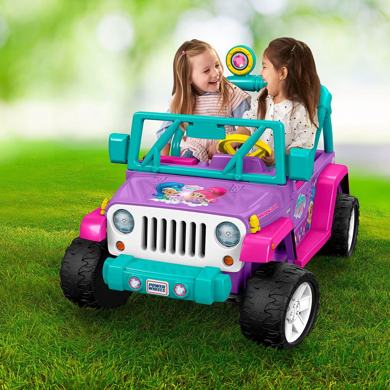 Power Wheels® DWR11 - Nickelodeon™ Shimmer and Shine™ Jeep Wrangler 12V  Pink Electric Car (3-7 Years)