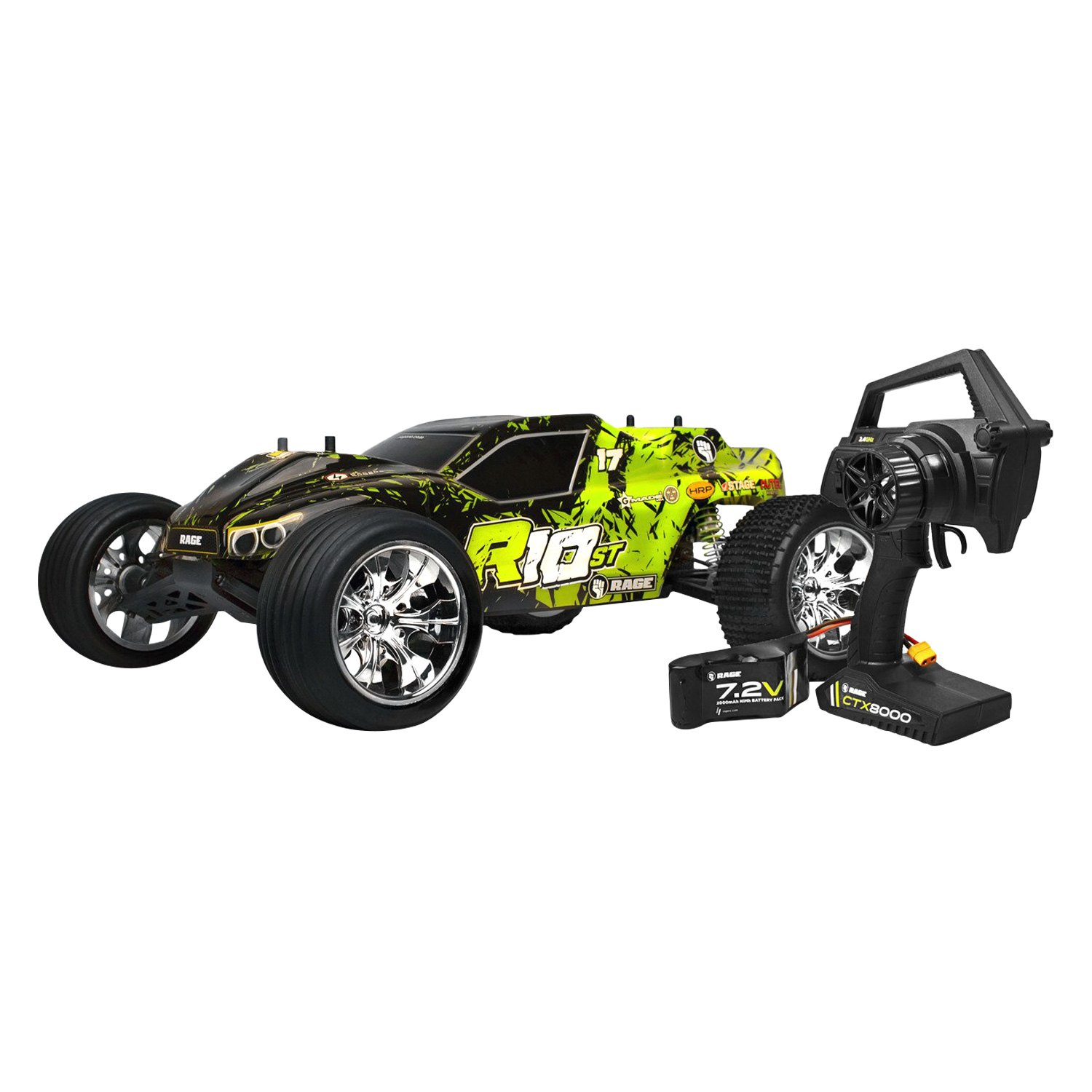 Rage Rc 174 Rgrc1000 R10st Series 1 10 Scale 2wd Green