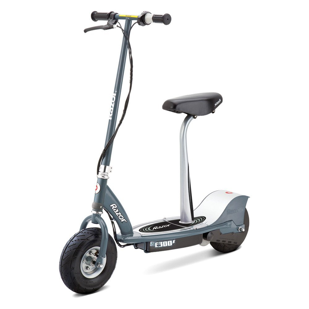 Razor Electric Scooter With Seat >> Razor 13116214 E300s Series Gray Seated Electric Scooter