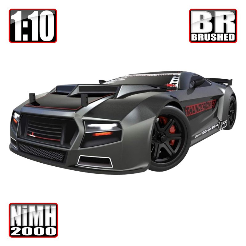 df1b68da17002 Redcat® THUNDER-DRIFT-GUNMETAL - Gun Metal Electric Brushed Thunder Drift  1/10 Scale On-Road Car