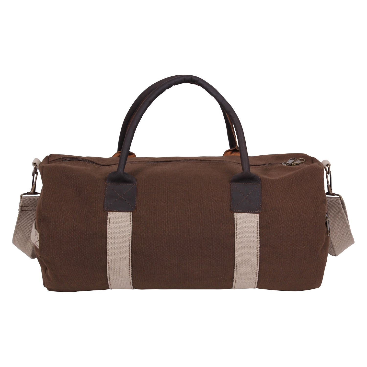 bc4571435e Rothco® - Canvas and Leather Gym Duffle Bag - RECREATIONiD.com