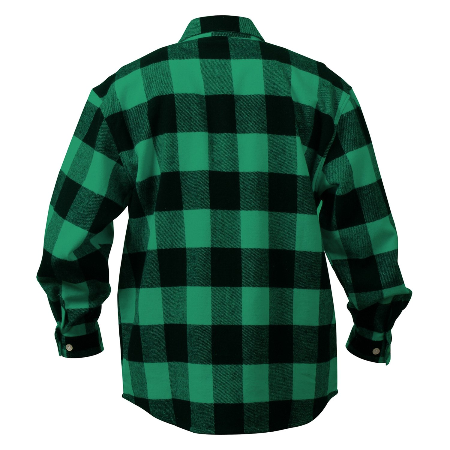 Rothco® 4739-Green-Plaid-L - Extra Heavyweight Buffalo Plaid Flannel ... 5358b529928