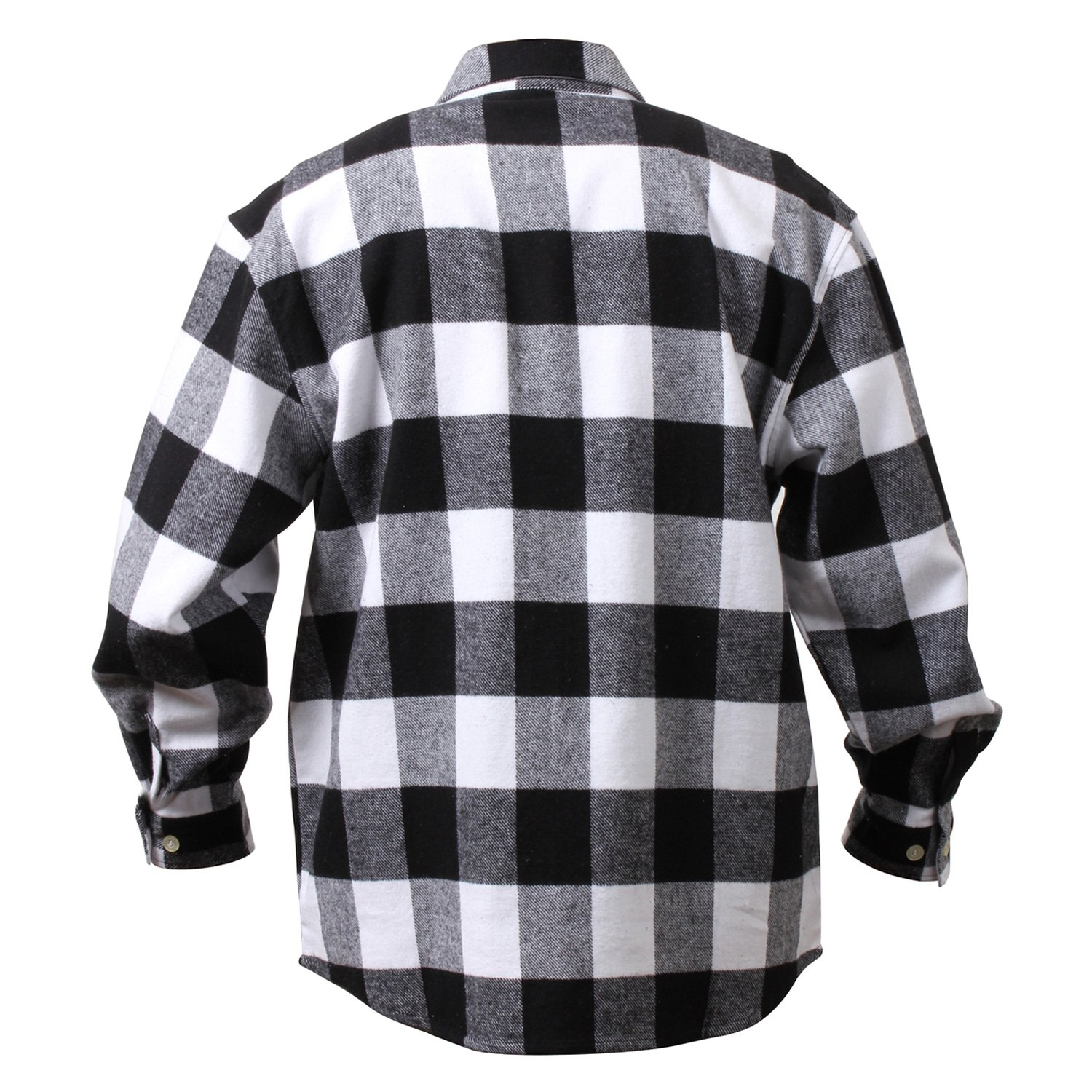 dd3f31b9d94218 Black And White Plaid Flannel Shirts