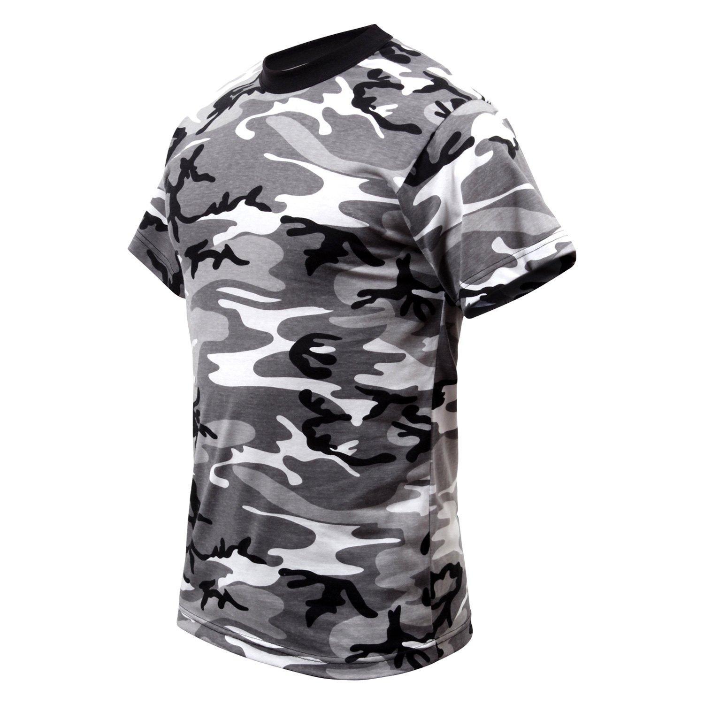 Colored Camo T-Shirts Rothco Midnight Blue Camo Men/'s Short Sleeve Tee