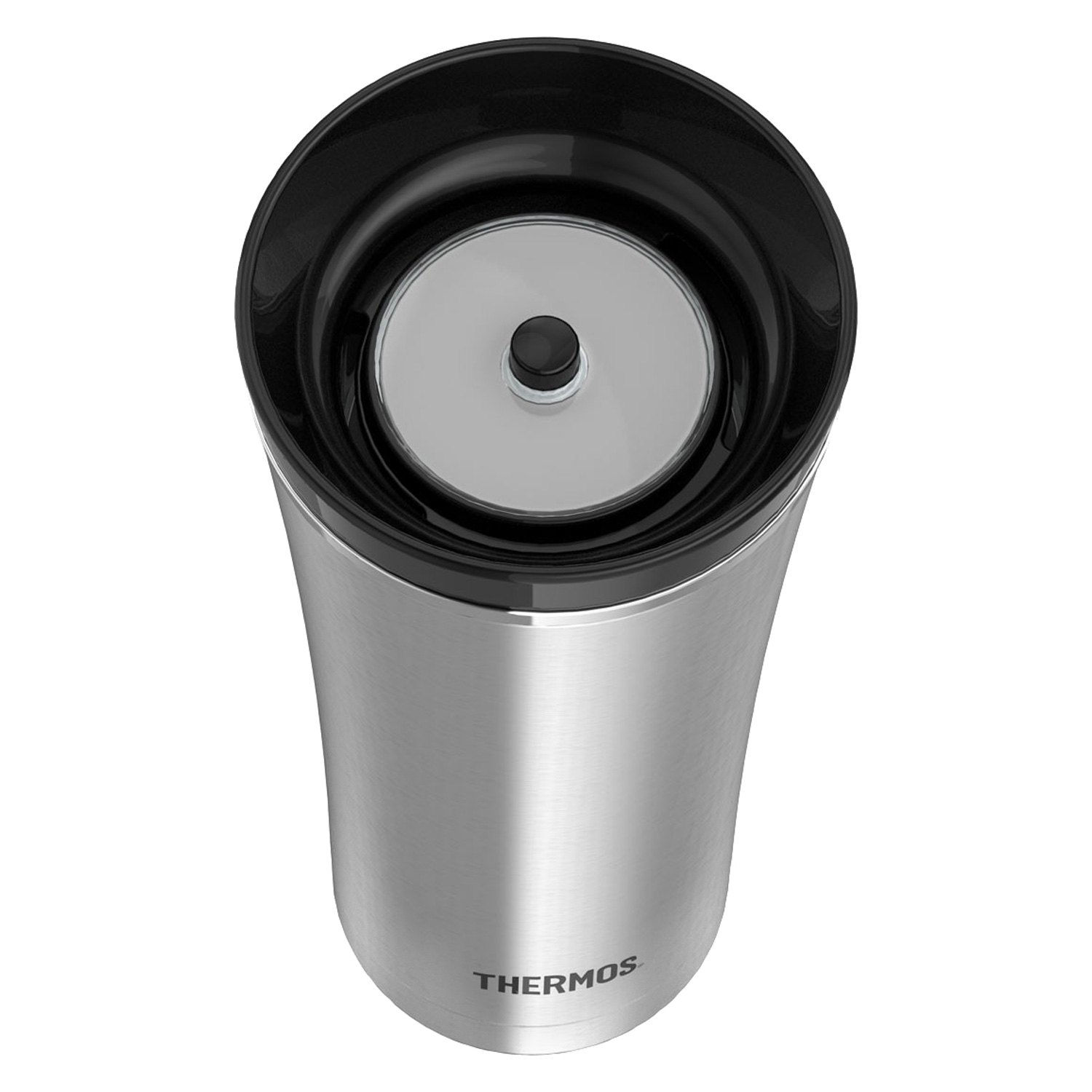 Thermos® NS105BK004 - Sipp™ Vacuum Insulated 16 oz  Black Stainless Steel  Travel Tumbler