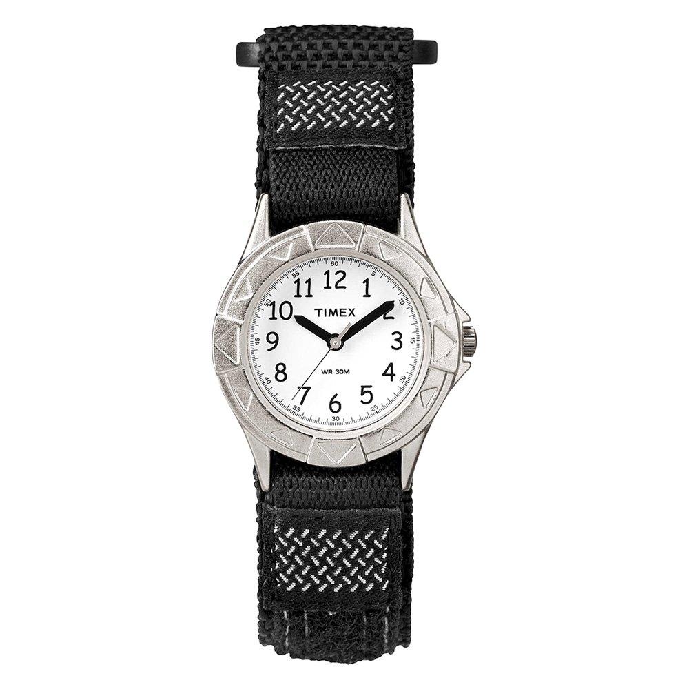 34bc3beed Timex® T79051XY - Kids Digital Silver/Black Wrap Elastic Fabric ...