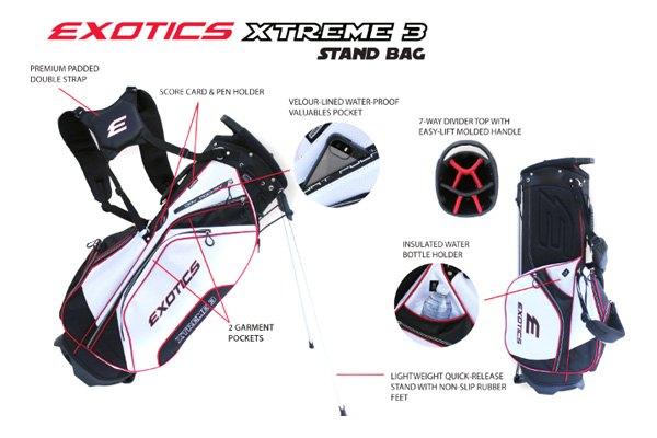 Bagtour Edge Golf Exotics Xtreme 3 Stand