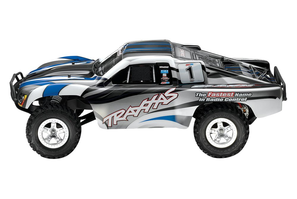 Traxxas® TRA58024-SBLU - Slash Series 1/10 Scale 2WD Silver-Blue Electric  Short Course