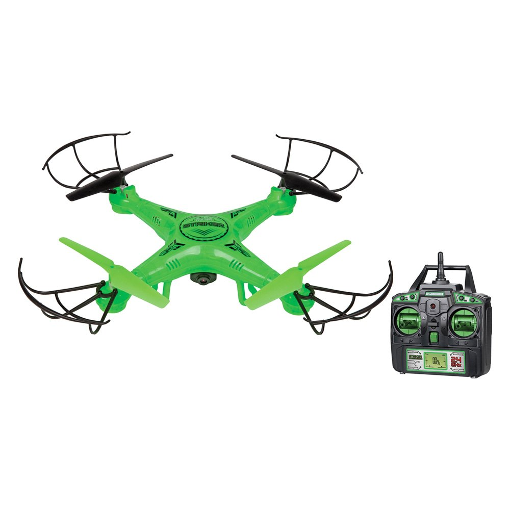World Tech Toys® ZX-33720 - Striker Series Glow-In-The-Dark Green 2 4GHz  4 5 Channel Spy Drone with Buil-in Camera